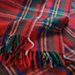 Royal Stewart Tartan Wool Blanket Tra...