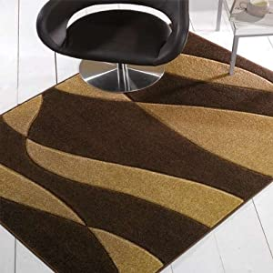 Flair Rugs Orleans Organza Hand Carved Rug, Brown/Beige, 120 x 170 Cm from Flair Rugs