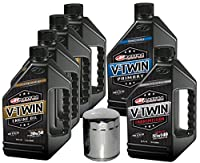 MaximaHiflofiltro VTTOCK22 Complete Engine Oil Change Kit for V-Twin Synthetic Blend Harley Davidson Twin Cam, 6 quart from MaximaHiflofiltro