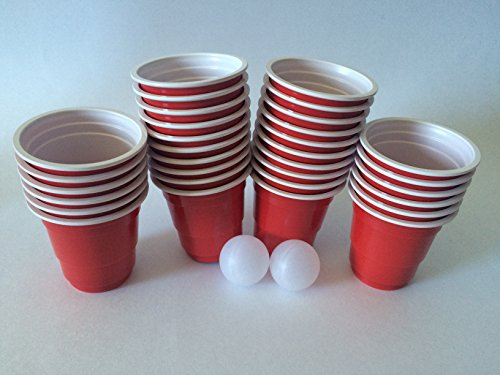 Jfullerton reds mini cup shot glasses 32 miniature beer for Small ping pong balls