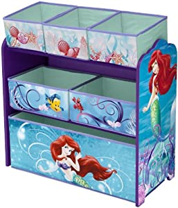 Disney Little Mermaid Multi-Bin Toy Organizer