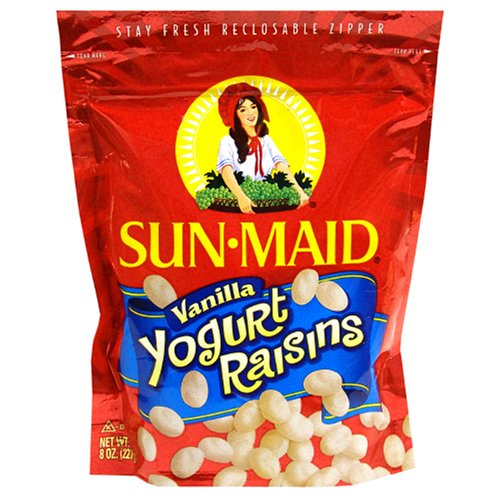 Sun Maid Vanilla Yogurt Raisins, 8-Ounce Bag (Pack of 6)