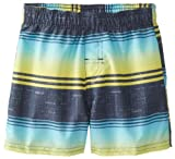 Kanu Surf Baby-Boys Infant The Good Life Swim Trunk, Navy/Lime, 18 Months
