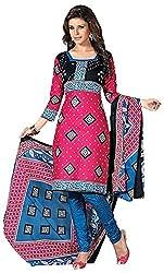 Mansi Fashion Women's Cotton Dress Material (MF-MP-2004 , Pink)