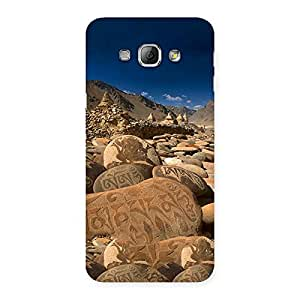 Ajay Enterprises Ft Roads Stone Prints Back Case Cover for Galaxy A8