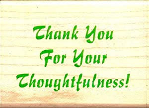Amazon Com Inkadinkadoo Rubber Stamp Thank You For Your