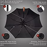 (Designed in Britain) Balios® TOP Quality Windproof Fiberglass Umbrella Auto Open & Close Folding, Vented Double Canopy with 300T Finest Fabric, Uniquely Strong- Ultra Comfort Handle- Mens, Ladies