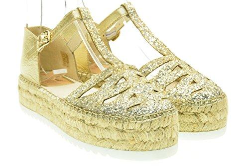 VIDORRETA donna sandali espadrillas 06500 glitter platino 40 Platino
