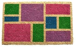 Entryways Non Slip Coir Doormat, 17-Inch by 28-Inch, Spring Blocks