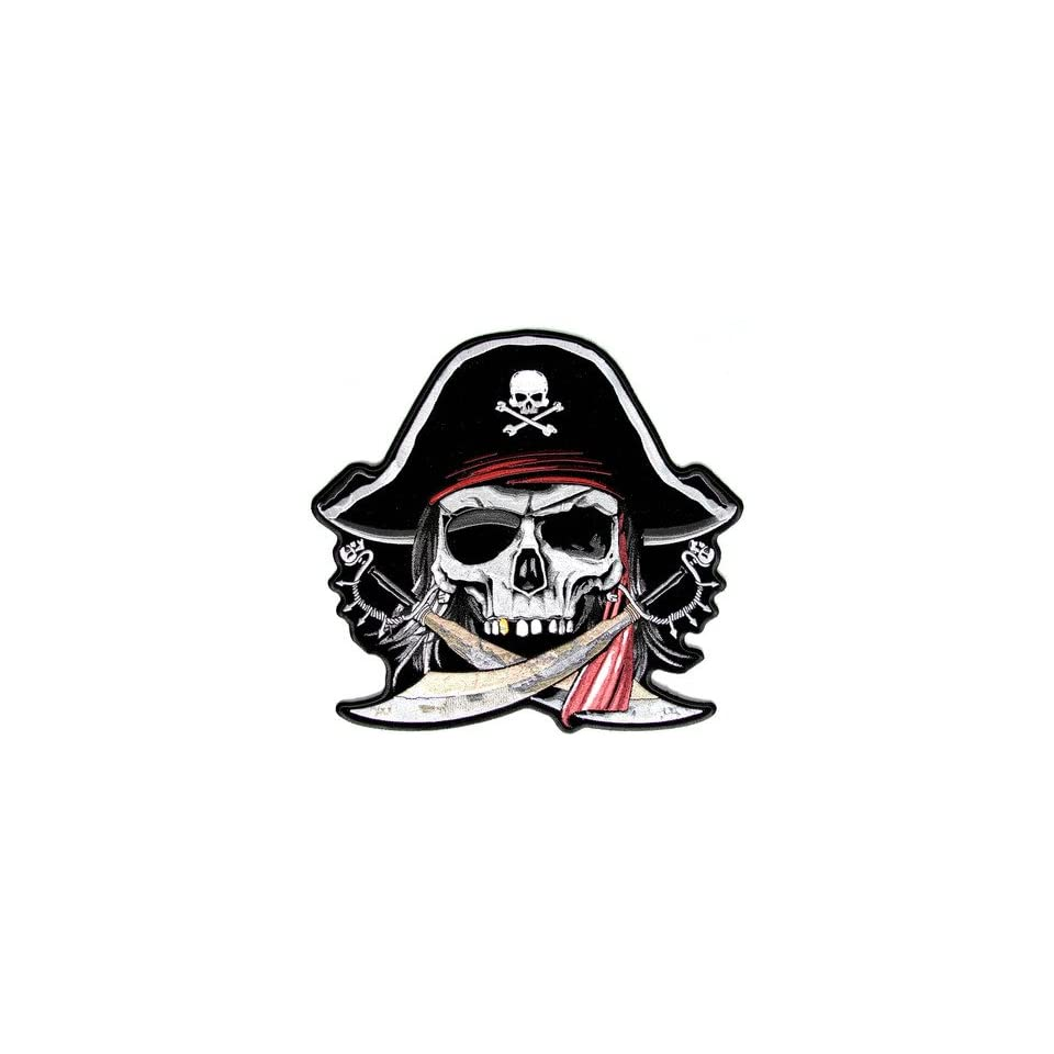 Pirate Skull Cross Bones Biker Quality New Embroidered LARGE BACK Patch LRG 0372