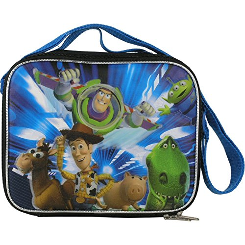1 X Disney's Toy Story Insulated Lunch Box with Carrying Strap Woody Buzz Bullseye