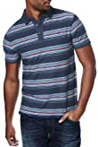 North Coast Pure Cotton Textured Striped Polo Shirt [T28-6987N-S]