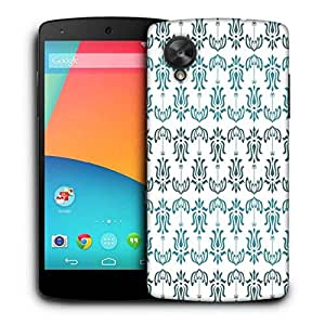 Snoogg Opposite Pattern Blue Printed Protective Phone Back Case Cover For LG Google Nexus 5