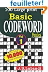 100 Large print Basic Codeword puzzles