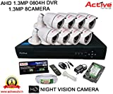 AHD ACTIVE 8CH DVR + AHD 1.3 Megapixel High Resolution ACTIVE 36IR BULLET CAMERA 8pcs + 1 TB WD HDD + CABLE 3+1 COPPER + POWER SUPPLY (FULL COMBO)