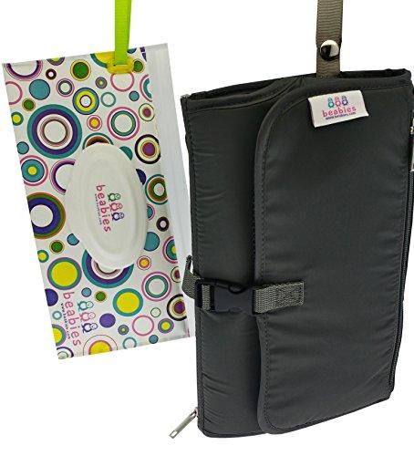 travel changing pad portable diaper clutch bag with wipes dispenser kit c. Black Bedroom Furniture Sets. Home Design Ideas