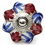 Knobs & Hooks FBK-251 Ceramic Cabinet Knob; Multi; (Set of 4 pieces MULTI COLOR)