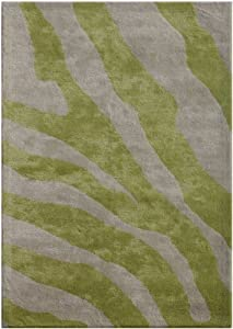 Jaipur Rugs 3-Feet 6-Feet by 5-Feet 6-Feet Tuf Viscose Mix DRWC-253 Rectangle Rug, Oasis Green