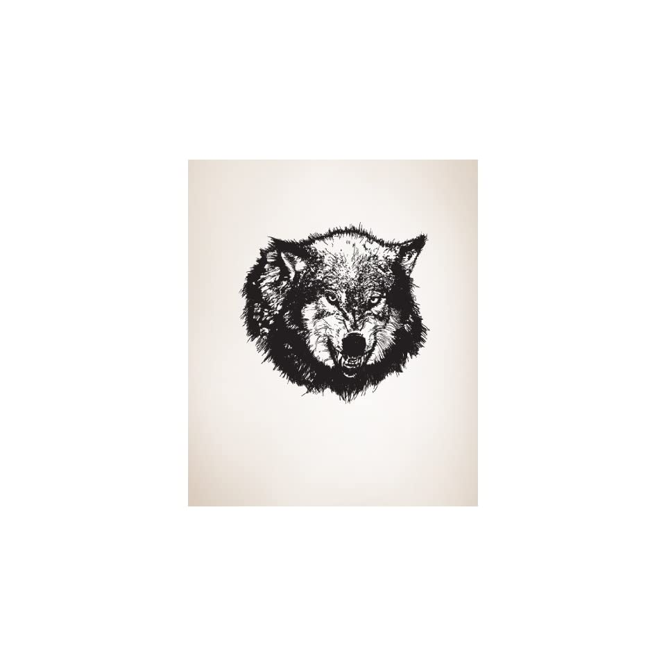 Vinyl Wall Decal Sticker Angry Wolf Item789s