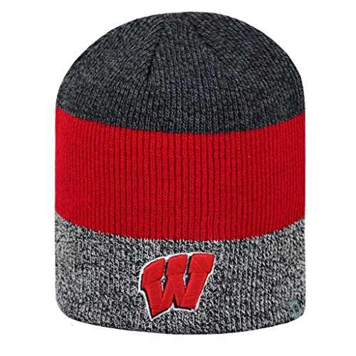 Wisconsin Badgers Official NCAA Sunset Uncuffed Knit Beanie Stocking Hat 279880 (Wi Badger Hat compare prices)