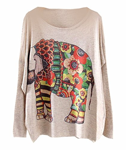 Ppperfecto Women'S Sweater Pullover Jumper Vintage Autumn Winter