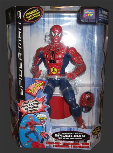 Buy Low Price Marvel Deluxe Interactive Talking SPIDERMAN FIGURE w/ Infrared Remote Control (B003OAXBGI)
