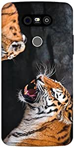 The Racoon Grip the tiger hard plastic printed back case / cover for LG G5