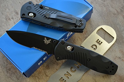 Benchmade 585SBK Mini Barrage Assisted Opening Knife with FREE Benchmade Bottle Opener