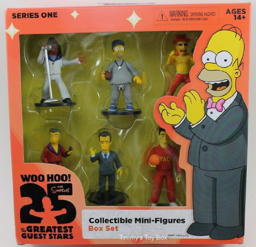 The Simpsons, 25th Anniversary Series 1 Collectible Mini-Figures Box Set, 6-Pack