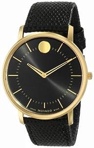 Movado Men's 0606847 Movado TC Analog Display Swiss Quartz Black Watch