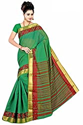Srinidhi Silks Cotton Green Colour Sari (Ssi 46 e)