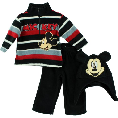 "Disney Boys Mickey Mouse ""Mickey"" Zip Top, Hat & Pant Set (3 Piece)"