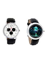 Gledati Men's White Dial And Foster's Women's Black Dial Analog Watch Combo_ADCOMB0001876