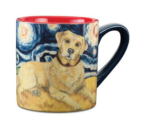 Paw Palettes Yellow Lab Van Growl Ceramic Mug, 16-Ounce front-420094