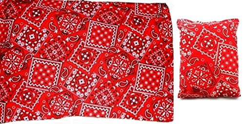 **Red Bandana Gift Set** Microwaveable Heating Pad With Machine Washable Sleeve And A Handybag Mini front-38808