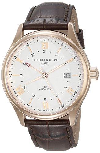Frederique Constant Geneve Classics Index GMT FC-350V5B4 Reloj Automático para hombres Segundo Huso Horario