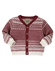 Autograph Cotton Rich Fair Isle Cardigan with Cashmere