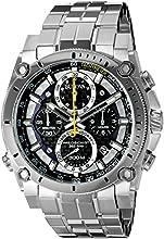 Comprar Bulova 96B175 - Reloj analógico de cuarzo para hombres, correa de acero inoxidable, color plateado