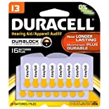 Duracell Batteries, Hearing Aid, Zinc Air, 13 16 batteries