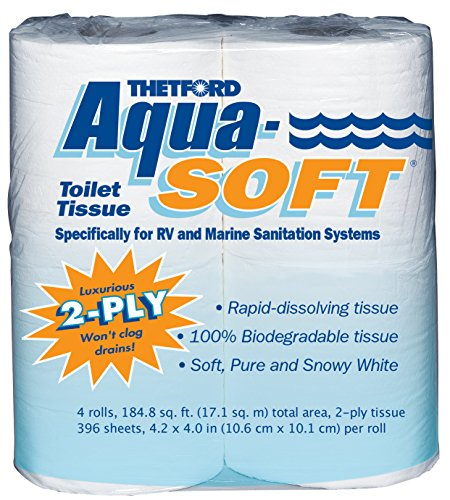 Thetford 03300 Aqua-Soft Toilet Tissue, 2-Ply, 4 Rolls (Toilets For Campers compare prices)