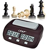 inkint ® Professional Digital Chess Clock Count Down Timer with Alarm Electronic Board Game Bonus Competition Master Tournament