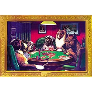 C.M. Coolidge (Bold Bluff, Dogs Playing Poker) Art Poster Print