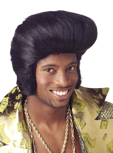 Wig Pimp Daddy Look Black Costume Wig