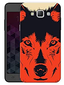 "Humor Gang Red Wolf Abstract Printed Designer Mobile Back Cover For ""Samsung Galaxy Grand 3"" (3D, Matte, Premium Quality Snap On Case)"