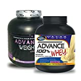 Weight Gainer 3KG Banana& ADVANCE 100% WHEY 25gm Protein Per 33gm 1kg Vanilla (Combo Offer)