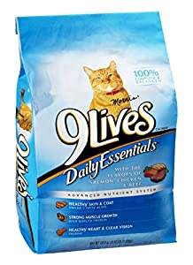 9Lives Daily Essentials Salmon, Chicken & Beef Cat Food 3.15 LB (Pack of 18)