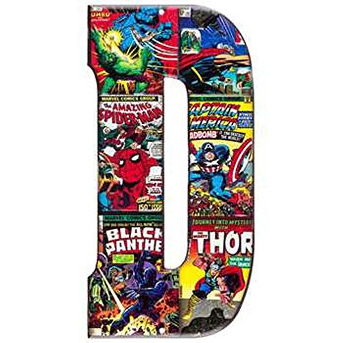 Superhero Marvel & DC Comics Embossed Tin Letter Sign (D (Marvel Heros)) (Marvel Sign compare prices)