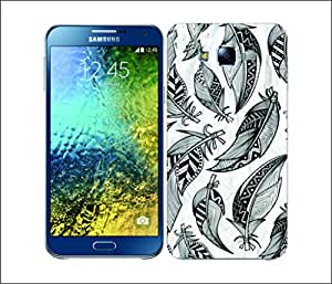 Galaxy Printed 2968 Tribal Feather B&W Hard Cover for Samsung J7