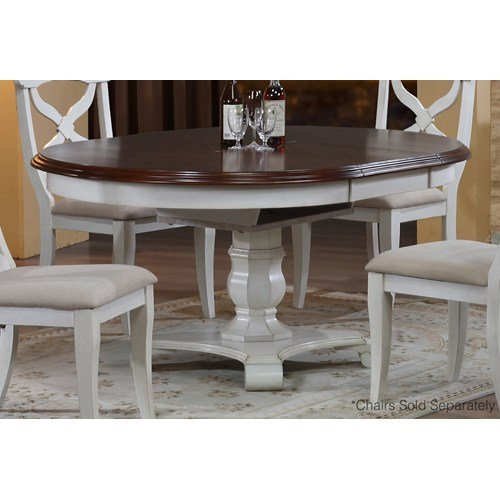 Sunset Trading Andrews Pedestal Oval Dining Table (Oval Pedestal Table With Leaf compare prices)