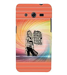 PRINTSWAG GIRL QUOTES Designer Back Cover Case for SAMSUNG GALAXY CORE 2 G355H